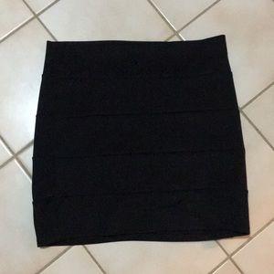 Black bandage skirt.